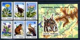 E22424)Rumänien 4172/7** + Bl 218**, Tiere - 1948-.... Republics