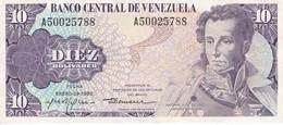 BILLETE DE VENEZUELA DE 10 BOLIVARES DEL AÑO 1980 EN CALIDAD EBC (XF) (BANK NOTE) - Venezuela
