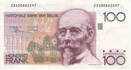 BILLETE DE BELGICA DE 100 FRANCOS   (BANK NOTE) - [ 2] 1831-... : Regno Del Belgio