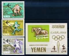 E23607)Olympia 68, Nordjemen Königreich 237/9** + Bl 32**** - Sommer 1968: Mexico