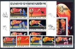 E23829)Olympia 80, Nordkorea 1860/4** + 1860/5 KLB** + Bl 60** - Ete 1980: Moscou