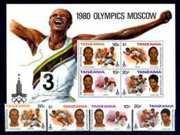 E23906)Olympia 80, Tansania 157/60** + Bl 23** - Ete 1980: Moscou