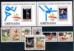 E24067)Olympia 92, Grenada 2440/7** + Bl 309** + 310** - Summer 1992: Barcelona
