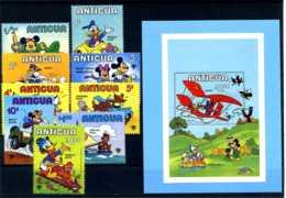 E24643)Disney, Antigua & Barbuda 563/71** + Bl 47** - Disney