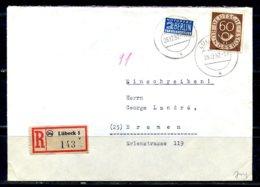 E24962)Bund 135 Auf E-Brief Mit AK-Stempel - [7] Federal Republic