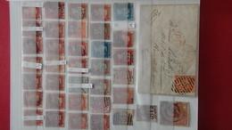 Bon Ensemble D'Anciens Timbres ( émis Avant 1900) D'Angleterre Dont 1 Lettre.Côte Sympa - Briefmarken