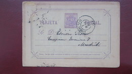 Entier Postal Espagne 1875 De Ciuda Real Pour Madrid - Interi Postali