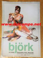 2018 Finland Concert Tour Poster Affiche Tournée BJÖRK - Manifesti & Poster