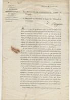 LETTRE DECRET 26 NOV 1811 DU MINISTERE DE L'INTERIEUR  CONCERNANT LES FAILLITES -VOIR DIFFERENTES MARQUES POSTALE - - Décrets & Lois