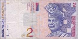 BILLETE DE MALASIA DE 2 RINNGIT DEL AÑO 1996 (BANKNOTE) - Malasia