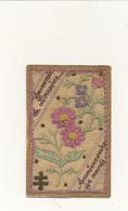 Carte Brodée Sur Tulle - Souvenir De Lorraine - Contrecollée Sur Carte En Franchise - WW1 - Ricamate