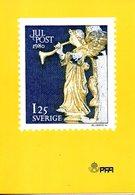 SUEDE. N°1115 De 1980 Sur Document 1er Jour. Ange à La Trompette. - Noël