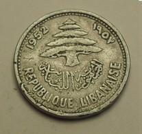1952 - Liban - Lebanon - 5 PIASTRES - KM 14 - Liban