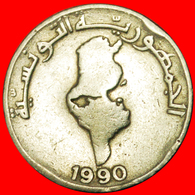 # MAP: TUNISIA ★ 1/2 DINAR 1990! LOW START ★ NO RESERVE! - Tunisie