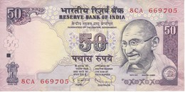 BILLETE DE LA INDIA DE 50 RUPEES EN CALIDAD MBC (VF)   (BANKNOTE) GHANDI - India