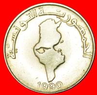 # MAP: TUNISIA ★ 1 DINAR 1990! LOW START ★ NO RESERVE! - Tunisie