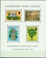 Guernsey 1975 Souvenir Of Victor Hugo's Exile In Guernsey 1855-1870, Mi Bloc 1,  MNH(**) - Guernsey
