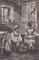 AK Mann Mit Gewehr Und Frau Mit Zither - Tracht Dirndl Österreich - 1901  (38519) - Europe