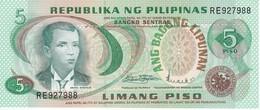 BILLETE DE FILIPINAS DE 5  PISO DEL AÑO 1949 SIN CIRCULAR-UNCIRCULATED  (BANKNOTE-BANK NOTE) - Filipinas