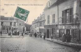 """94 - THIAIS : Place Maurepas Et Rue Saint Sauveur ( Animation Commerces Pub """" Le Petit Parisien """" ) CPA - Val De Marne - Thiais"""