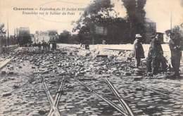 EVENEMENTS Catastrophe - 94 CHARENTON Explosion 23 Juillet 1912 - Tranchées Sur Le Tablier Du Pont (2) CPA Val De Marne - Rampen
