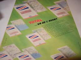 ANCIENNE PUBLICITE VA DE L AVANT TOTAL 1961 - Transport