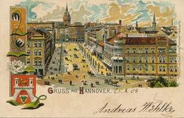 Gruss Aus Hannover Litho  Rosenblatt  Some Defects Decor Art Nouveau - Hannover