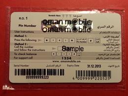 OMAN Mobile Hayyak - SAMPLE RECHARGE - 1 R.O MINT Blister NSB TRIAL DEMO TEST 31.12.2013 (SACROC) - Oman