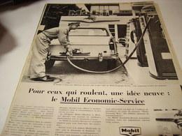 ANCIENNE PUBLICITE CE QUI ROULE  MOBIL ECONOMIE SERVICE 1960 - Transports