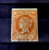 Año 1860 Edifil 52 4c Isabel II   Matasellos Tremp Lerida - 1850-68 Königreich: Isabella II.