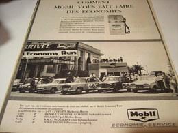ANCIENNE AFFICHE PUBLICITE  ECONOMIE AVEC MOBIL 1961 - Transports