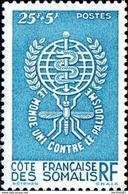COTE DES SOMALIS Poste 304 ** MNH Eradication Du Paludisme Bord De Feuille 2 (CV 6 €) - Unused Stamps
