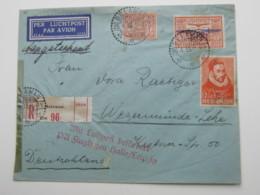 1933 , Einschreiben  Nach Deutschland - Nederlands-Indië