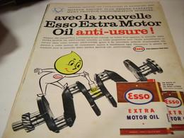 ANCIENNE PUBLICITE ANTI USURE  HUILE  ESSO 1960 - Transport