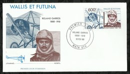 ROLAND GARROS . 18 FEVRIER 1988 . MATA - UTU . - FDC