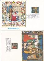 SOS Kinderdorf 3x Weihnachten - Belege Christkindl Sonderstempel 1979,1982,1984 - Österreich