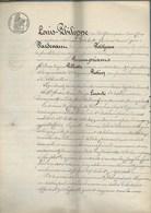 OBLIGATION CINQ CENT FRANCS -- ACTE NOTARIAL SIGNE A MONTBELIARD -AVRIL 1844 - Actions & Titres