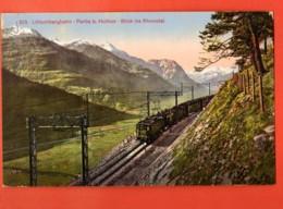 EBK-21 Lötschbergbahn, Partie Bei Hothen. Blick Ins Rhonetal. Train, Zug. Photoglob 215 Nicht Gelaufen - VS Valais