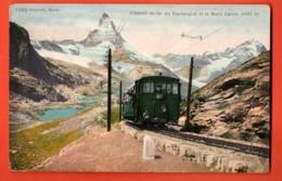 EBK-27 Chemin De Fer Du Gornergrat Sur Zermatt Mit Matterhorn.Bahn,Train, Zug.Phototypie 7269,circulé - VS Valais