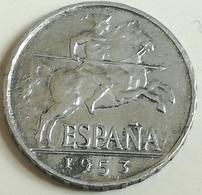 Moneda 5 Céntimos. 1953. Jinete Íbero. General Franco. España. Original. Hecha En Madrid - [ 5] 1949-… : Reino
