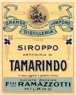 "D8962 ""SCIROPPO TAMARINDO - GRANDE DISTILLERIA A VAPORE  - FINE XIX SECOLO  "".  ETICHETTA ORIGINALE7 - Fruit En Groenten"