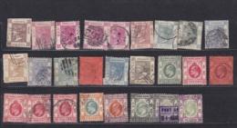 HONG-KONG  :  26 Timbres Victoria Et Edouard VII  Oblitéré 1862 à 1911 - Hong Kong (...-1997)