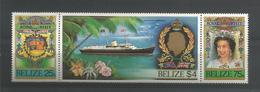 Belize 1985 Queen's Visit Y.T. 740/742 ** - Belize (1973-...)