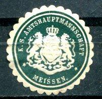"""ALLEMAGNE - Siegelmarke """"K.S.AMTSHAUPTMANNSCHAFT - MEISSEN"""" - Cinderellas"""