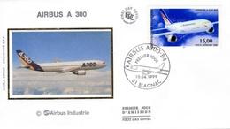 FRANCE Poste Aérienne 63 FDC Avion Airbus Inndustrie A 300 (CV 18 €) - FDC