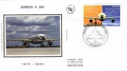 FRANCE Poste Aérienne 65 FDC Avion Airbus Inndustrie A 300 (CV 15 €) - FDC