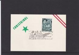 Österreich Karte Weihnachten Hl. Drei Könige Sonderstempel 1966 - Österreich