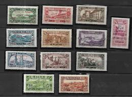 Syrie   1926  Surchargés      Cat Yt N°  167 à 178     N* MLH - Syrie (1919-1945)