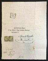 Apiro Di Cingoli Macerata Da Napoli Con Coppia 1 Cent  Cod.bu.261 - Stato Pontificio