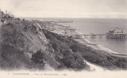 FOLKESTONE - VIEW OF PIER FROM LEAS.  LL 7 - Folkestone
